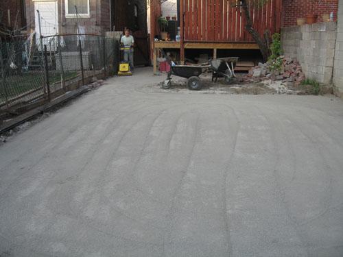backyard parking lot interlock install for backyard parking lot