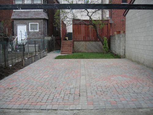 Interlock/Concrete Projects   Backyard Parking Lot